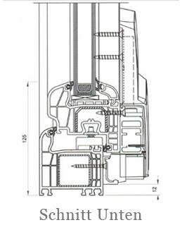 Iglo 5 Schiebetür Schnitt Unten - 5 Kammer Fenster - Parallel- Schiebe- Kipptür PSK - Hersteller Drutex S.A. - Fensterhof