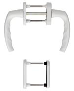 Drutex Griffset Weiß - Hoppe - Griffset Abschließbare Balkontür - Terrassentür
