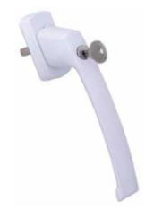 Drutex Abschließbarer Schiebetürgriff Weiß - Hoppe - Schiebetür - Parallel- Schiebe- Kipptür