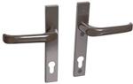 Drutex Haustürbeschlag - Drücker in Braun - Haustürgriff - Eingangstür - Aussentür