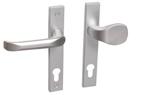 Drutex Haustürbeschlag - Drücker - Knauf in Silber - Haustürgriff - Eingangstür - Aussentür