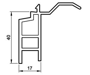 Fensterbankanschluß 40 mm - Steinbankanschluss - Kunststoffprofile - Drutex S.A.