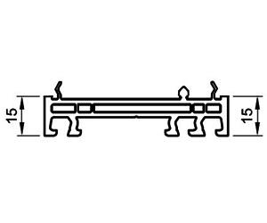 Verbreiterung 15 mm - Aufdopplung - Kunststoffprofile - Drutex S.A.