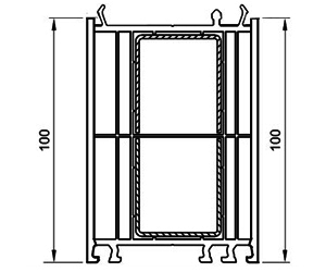 Verbreiterung 100 mm - Aufdopplung - Kunststoffprofile - Drutex S.A.