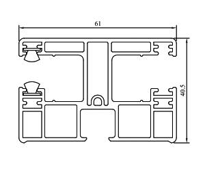 Führungsschienen 61 mm - Rolladenführung - Standard Rolladenführung - Kunststoffprofile - Drutex S.A.