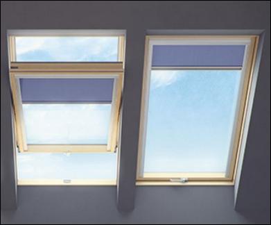 Fakro Dachfenster Schwingfenster mit Jalousie