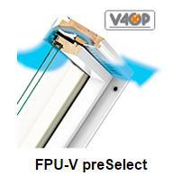 Klapp- Schwingfenster FPU-V preSelect - Fakro Dachfenster aus Holz - Dauerlüftung V40P - Dachfenster - Polnische Dachfenster