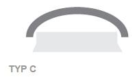 Fakro Dachfenster - Flachdachfenster TYP C Runddachfenster - Fensterhof