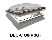 Fakro Dachfenster Rund Sicherheitsglas - Flachdachfenster DEC-C U8 (VSG) - Fensterhof