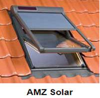 Fakro Netzmarkise AMZ Solar elektrisch Solarbetrieb - Zubehör Fakro Dachfenster