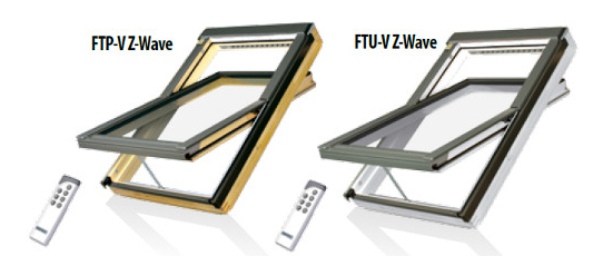Fakro Dachfenster Z-Wave - Schwingfenster FTP-V Z-Wave - FTU-V Z-Wave - Holzfenster - Kunststofffenster - Dachflächenfenster - Netzteile