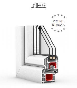 GL-System Iglo 5 Halbflächenversetzt - 5 Kammer Fensterprofil Drutex S.A. Kunststofffenster Fenster