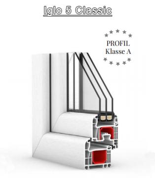 GL-System Iglo 5 Classic Flächenbündig - 5 Kammer Fensterprofil Drutex S.A. Kunststofffenster Fenster