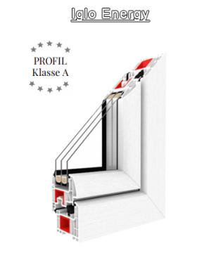 Iglo Energy - Halbflächenversetzt - Drutex Fenster - Fensterprofil - 7 Kammer - Passivhaus - Kunststofffenster