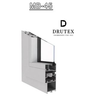 Drutex Fensterprofil MB45 Aluminium - Fenster - Balkontür