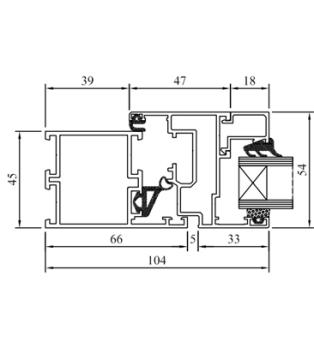 Skizze Drutex Fensterprofil MB45 Aluminium - Fenster - Balkontür