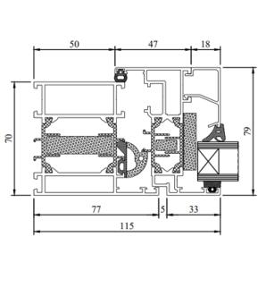 Drutex Fensterprofil MB70HI Aluminium - Fenster - Balkontür