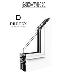 Drutex Fensterprofil MB70HI Aluminium - Fenster - Balkontür - Aluprof