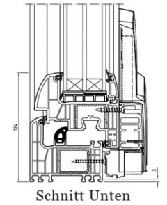 Iglo Energy Schiebetür Schnitt unten - 7 Kammer Fenster - Parallel- Schiebe- Kipptür PSK - Hersteller Drutex S.A. - Fensterhof