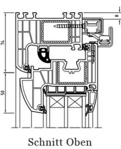 Iglo Energy Schiebetür Schnitt oben - 7 Kammer Fenster - Parallel- Schiebe- Kipptür PSK - Hersteller Drutex S.A. - Fensterhof