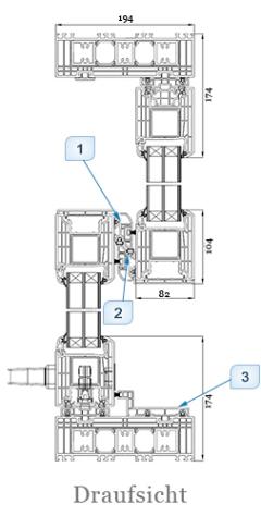 Iglo HS Schiebetür Draufsicht Schnitt - 7 Kammer Fenster - Hebe- Schiebetür - Hersteller Drutex S.A. - Fensterhof