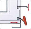 Drutex Fenster - Maco Beschläge - Ecklager - 3D Scharnier - Fenster