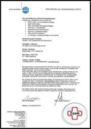 Maco Zertifikat - Maco Beschlag - Unbedenklichkeitserklärung Zertifikat - Fenster - Drutex S.A. - B&F Fensterhof