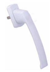 Drutex Schiebetürgriff Weiß - Hoppe - Schiebetür - Parallel- Schiebe- Kipptür