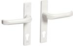 Drutex Haustürbeschlag - Drücker in Weiß - Haustürgriff - Eingangstür - Aussentür