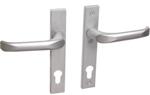 Drutex Haustürbeschlag - Drücker in Silber - Haustürgriff - Eingangstür - Aussentür