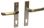 Drutex Haustürbeschlag - Drücker in Gold - Haustürgriff - Eingangstür - Aussentür