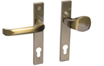 Drutex Haustürbeschlag - Drücker - Knauf in Gold - Haustürgriff - Eingangstür - Aussentür