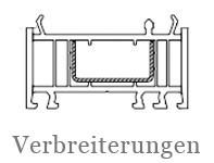 Drutex Profile - Zubehör - Verbreiterung - Aufdopplung - B&F Fensterhof