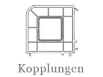 Drutex Profile - Zubehör - Kopplungen - Kopplungsprofile - Eckkopplung - B&F Fensterhof