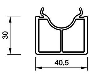 Fensterbankanschluß 30 mm - Standard Bankanschluss - Kunststoffprofile - Drutex S.A.