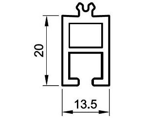 Fensterbankanschluß 20 mm - Bankanschluss - Kunststoffprofile - Drutex S.A.