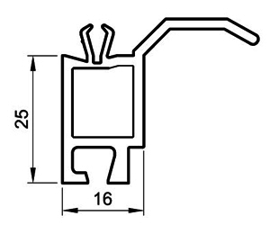 Fensterbankanschluß 25 mm - Steinbankanschluss - Kunststoffprofile - Drutex S.A.