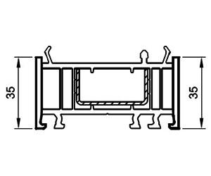 Verbreiterung 35 mm - Aufdopplung - Kunststoffprofile - Drutex S.A.