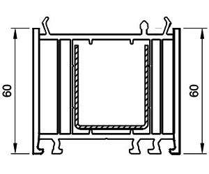 Verbreiterung 60 mm - Aufdopplung - Kunststoffprofile - Drutex S.A.