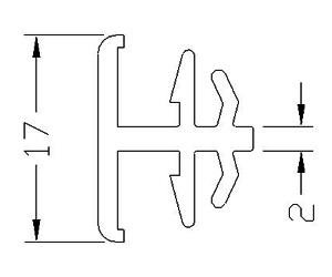 H-Kopplung - Kopplung - Kopplungsprofil - Kunststoffprofile - Drutex S.A.