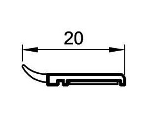 Deckleisten 20 mm - Abdeckleisten - Kunststoffprofile - Drutex S.A.