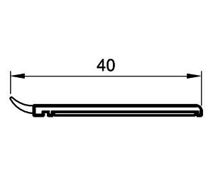 Deckleisten 40 mm - Abdeckleisten - Kunststoffprofile - Drutex S.A.