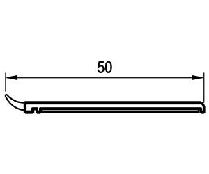 Deckleisten 50 mm - Abdeckleisten - Kunststoffprofile - Drutex S.A.