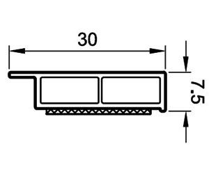 Deckleisten 30 mm - Abdeckleisten - Kunststoffprofile - Drutex S.A.
