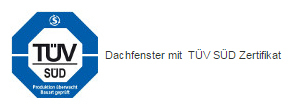 Fakro Dachfenster TÜV SÜD Zertifikat