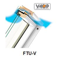 Schwingfenster FTU-V - Fakro Dachfenster aus Holz - Dauerlüftung V40P - Dachfenster - Polnische Dachfenster