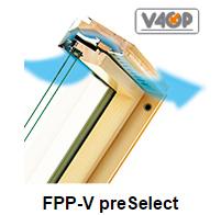 Klapp- Schwingfenster FPP-V preSelect - Fakro Dachfenster aus Holz - Dauerlüftung V40P - Dachfenster - Polnische Dachfenster