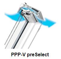 Klapp- Schwingfenster PPP-V preSelect - Fakro Dachfenster aus Kunststoff - Dachfenster - Polnische Dachfenster