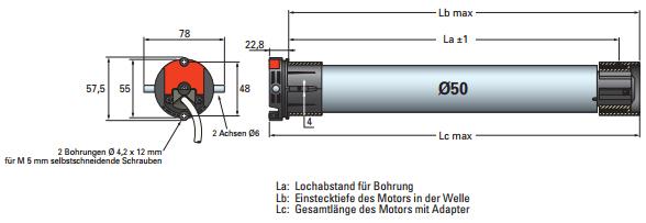 Simu GmbH Rollladenmotor T5 Auto - Rollladen - Motor - Somfy