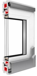 Drutex S.A. - Iglo Energy Schiebetür PSK Schnitt - Fenster und Terrassentüren